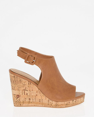 Le Château Faux Leather Slingback Wedge Sandal