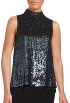 French Connection Starlight Sleeveless Sequined Blouse