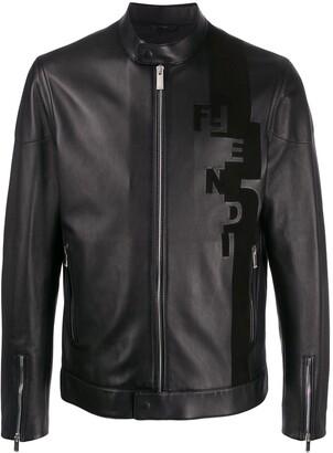 Fendi Debossed Logo Zipped Jacket