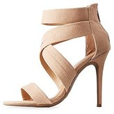 Charlotte Russe Faux Suede Strappy Dress Sandals