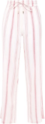 Melissa Odabash Krissy Striped Cotton-gauze Wide-leg Pants