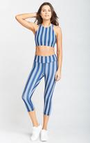 MUMU Carly Cropped Leggings ~ Navy Stripe Firm Stretch