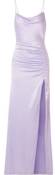 Alice + Olivia Alice Olivia - Diana Ruched Satin Maxi Dress - Lilac