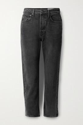 rag & bone - Maya Cropped High-rise Straight-leg Jeans - Black