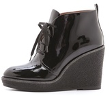 Marc by Marc Jacobs Patent Lace Up Wedge Booties