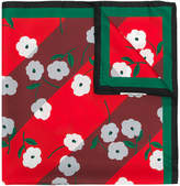 Marni bordered floral scarf