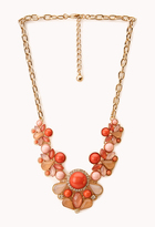 Forever 21 Bold Beaded Bib Necklace