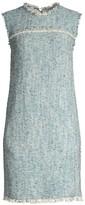 Escada Sport Fringed Sleeveless Tweed Dress