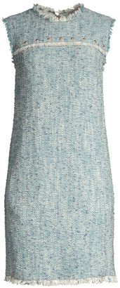 Escada Sport Fringed Sleeveless Tweed Dress