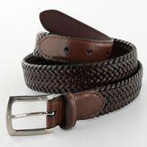 Dockers Tubular Stretch Braided Leather Belt