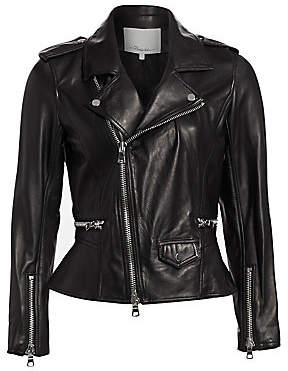 3.1 Phillip Lim Women's Leather Moto Jacket