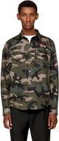 Valentino Green Camo Tattoo Jacket