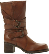 Dune Rocking buckle-detail leather boots
