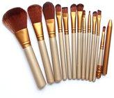 Bestpriceam 12 pcs/set Makeup Brush Set (Gold)