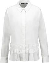 McQ by Alexander McQueen Ruffled cotton-poplin blouse