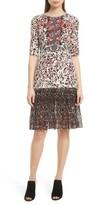 Saloni Women's Vera Print Silk Dress