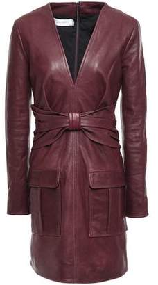 Victoria Victoria Beckham Victoria, Victoria Beckham Bow-detailed Leather Mini Dress