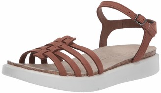 Ecco womens Corksphere Ankle Strap Sandal