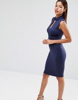 Club L Peter Pan Collar Pencil Midi Dress