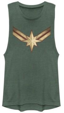 Fifth Sun Marvel Women's Captain Marvel Movie Logo Festival Muscle Tank Top