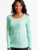 Talbots Space-Dyed Waffle-Knit Tee