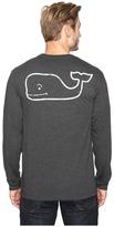 Vineyard Vines Long Sleeve Vintage Whale Heather Pocket T-Shirt