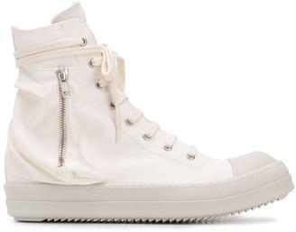 Rick Owens Zipped High-Top Sneakers
