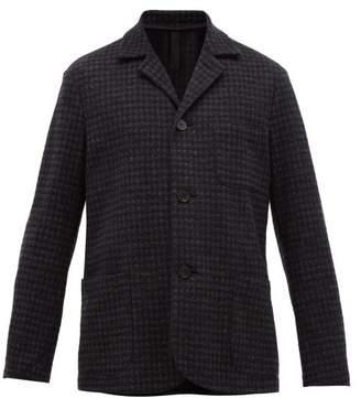 Harris Wharf London Single Breasted Blazer - Mens - Dark Grey
