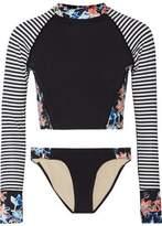 Tart Collections Cara Striped And Floral-Print Bikini
