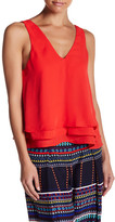 Parker V-Neck Sleeveless Ruffle Tank