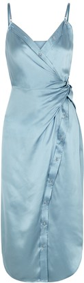 Alexander Wang Blue silk-satin dress