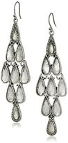 Lucky Brand Clear Major Pave Earrings