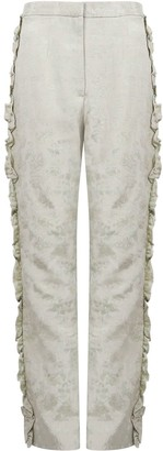 Olivia Annabelle For The Frill Of It Brocade Green Trousers
