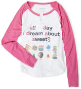 Butter Shoes Girls 7-16) I Dream About Sweets Raglan Tee