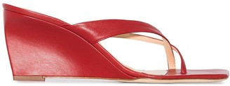 BY FAR Theresa 70mm wedge sandals