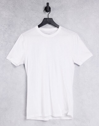 New Look muscle fit t-shirt in white