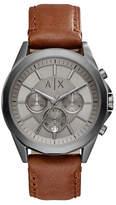 Armani Exchange Chronograph Drexler Smart Collection Leather Watch