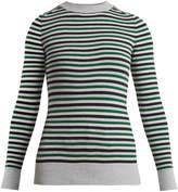 JOOSTRICOT Crew-neck striped cotton-blend sweater