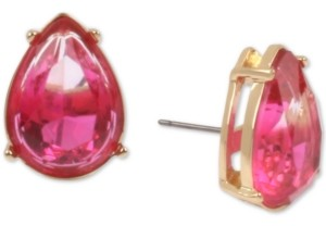 Betsey Johnson Gold-Tone Stone Teardrop Stud Earrings