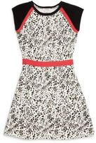 Hartstrings Girl's Leopard Print Fit & Flare Dress