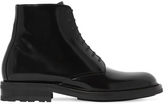 Saint Laurent 20MM BRUSHED LEATHER ARMY BOOTS