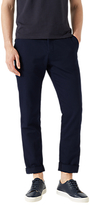 Jigsaw Garment Dye Italian Cotton Linen Trousers, Chalk Navy