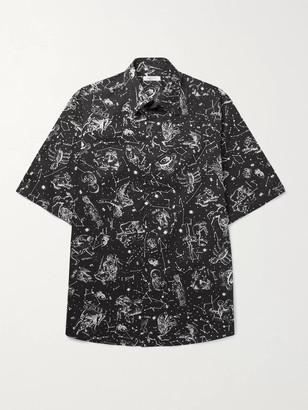 Valentino Oversized Printed Cotton Shirt