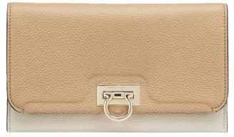 Salvatore Ferragamo Gancini Tri-Color Leather Wallet-On-Chain
