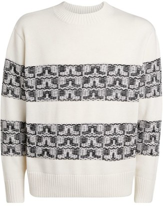 J. Lindeberg Abstract Stripe Knitted Sweater