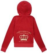 Juicy Couture Girls Logo Velour Viva Crown Robertson Jacket