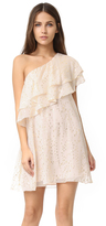 Rachel Zoe One Shoulder Ruffle Dress