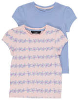 George 2 Pack Assorted Floral T-Shirts