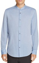 Vince Band Collar Regular Fit Button-Down Shirt