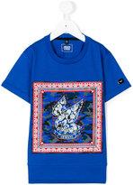 Armani Junior eagle print T-shirt - kids - Cotton/Polyester - 5 yrs